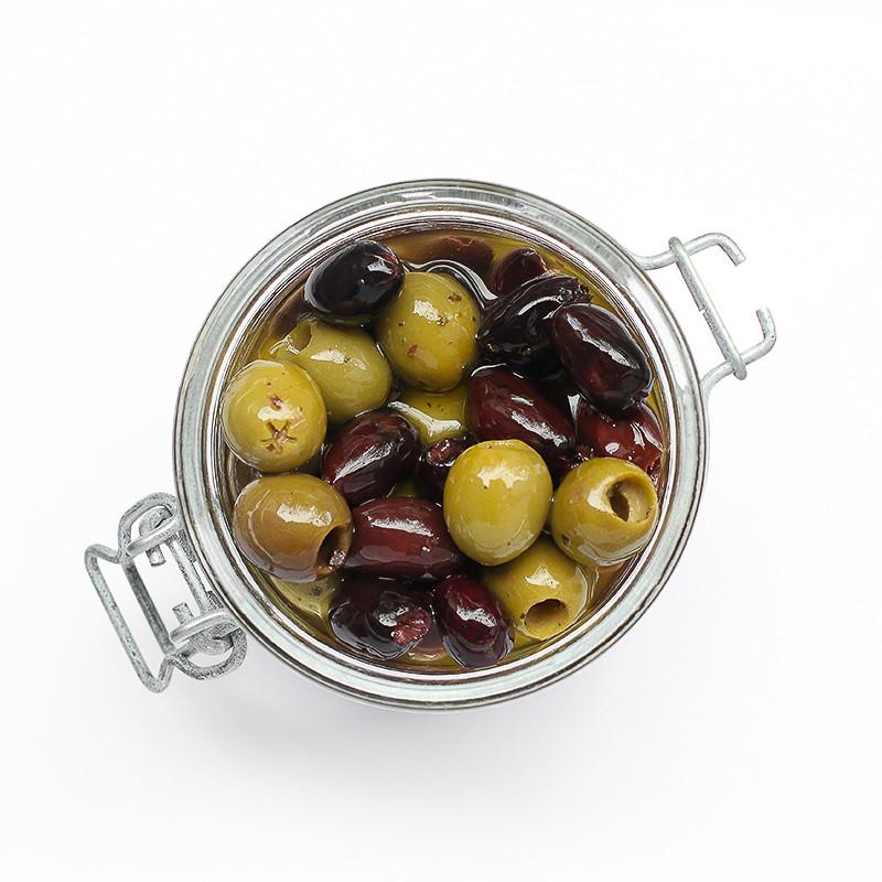 Olives vertes & noires dénoyautées