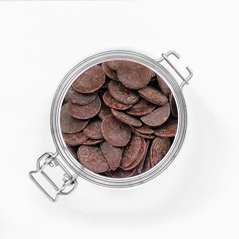 Palets de chocolat noir 70%