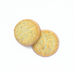 Biscuit orange pavot