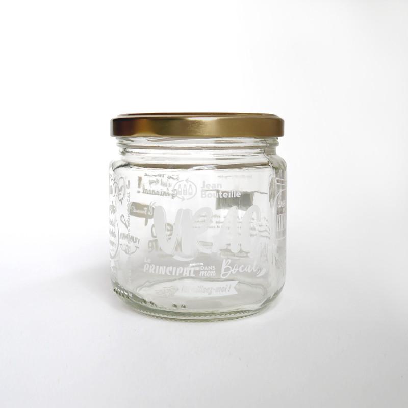 Bocal en verre + couvercle