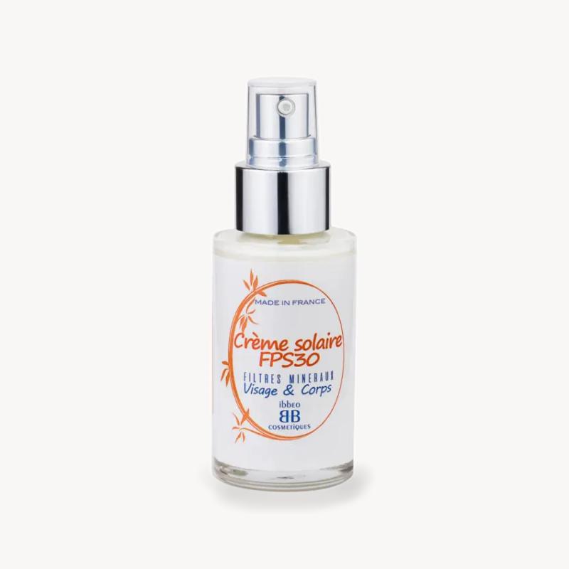 Crème solaire FPS30 filtres minéraux